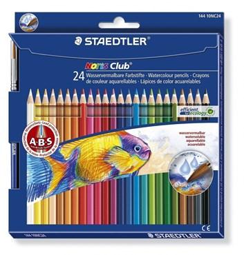 Staedtler, 14410NC24, Noris Club, sada akvarelových pastelek, 24 ks + 1 štětec