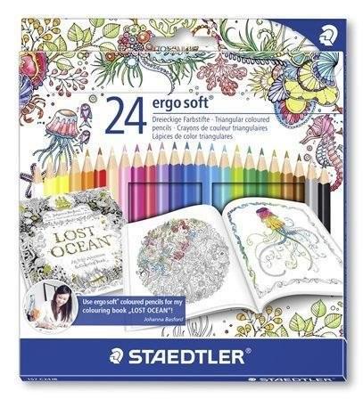 Pastelky Ergo Soft, Johanna Basford limitovaná edice, trojhranné