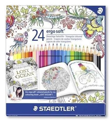 Staedtler, 157 C24JB, Ergo Soft, pastelky, limitovaná edice Johanna Basford, 24 ks