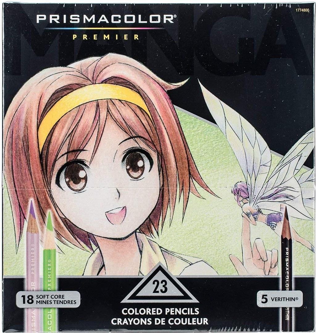 Prismacolor, 1774800, Prismacolor Premier Soft core, Manga colours, sada pastelek a tužek, 23 ks