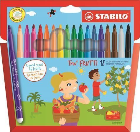 Fixy Trio Frutti, voňavé, 18 kusů, Stabilo