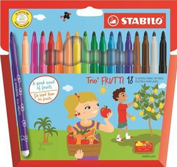 Stabilo, 290/18-01, Trio Frutti, fixy voňavé, 18 kusů