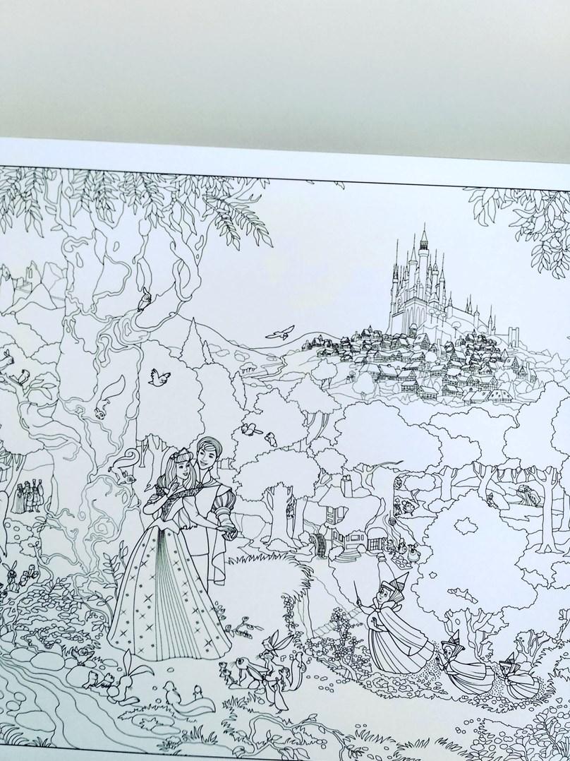 Disney Princess Coloring Poster, Thomas Kinkade ...