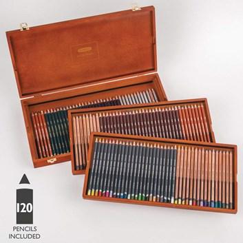 Derwent, 2302731, Derwent Limited Edition Collection Box Set, sada uměleckých pastelek v luxusní dřevěné kazetě, 120 ks