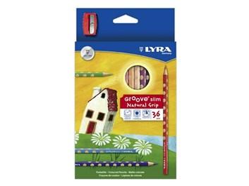 Lyra, 6300294, Groove slim, sada pastelek s ořezávátkem, 36 ks