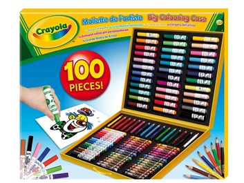 Crayola, 10651, Big colouring case, velký malovací kufřík, 100 kusů