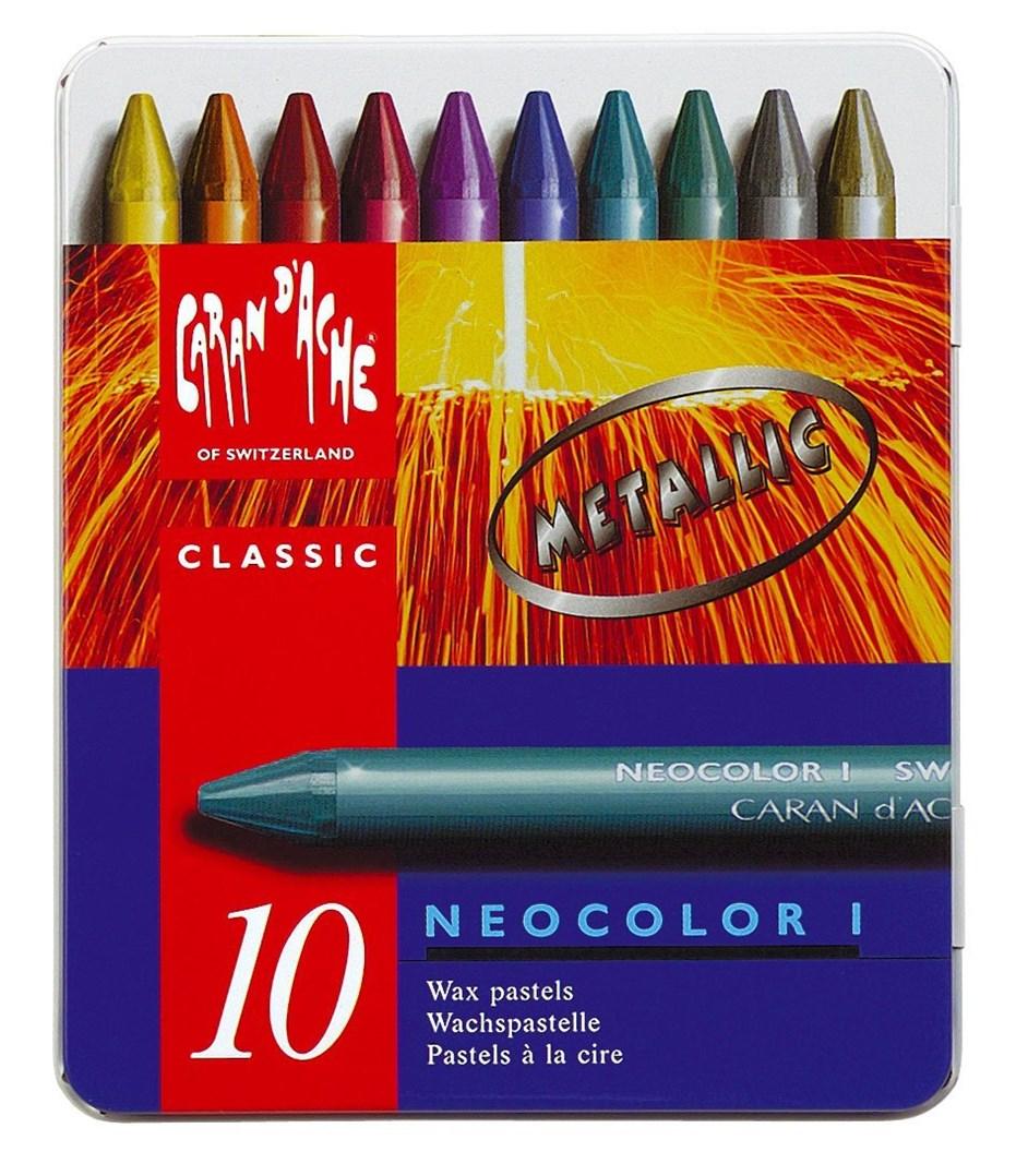 Umělecké voskové pastely Neocolor I., 10 kusů, Caran d´Ache