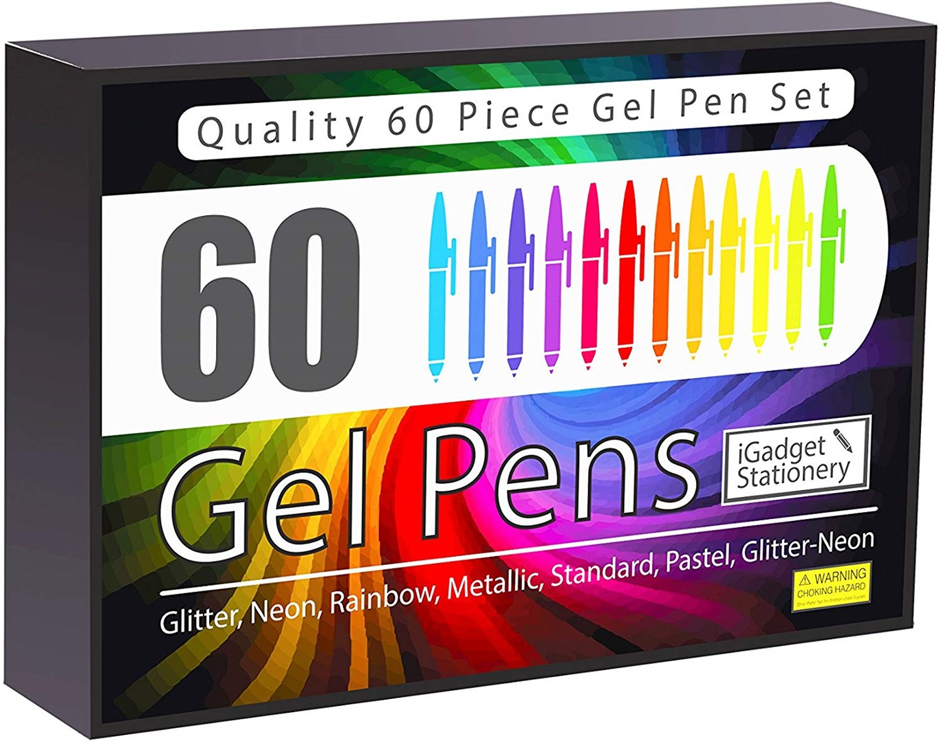 iGadget Innovations, sada gelových per, 60 ks