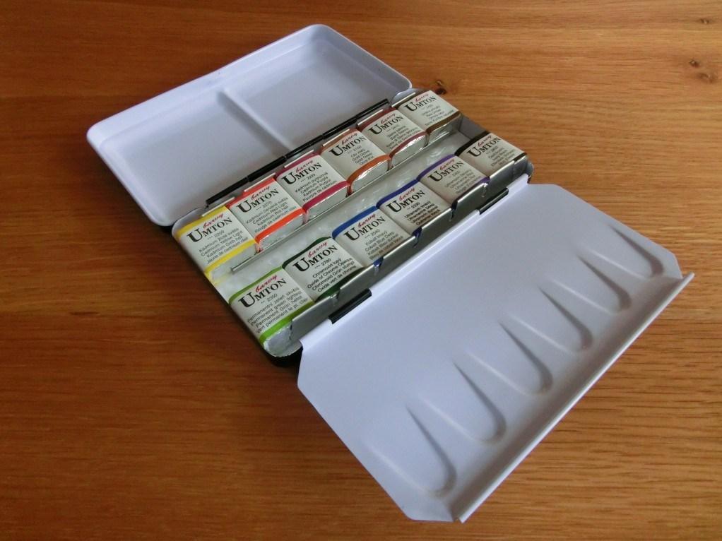 Umton, W-12, Sada akvarelových barev v kovové kazetě, 2,6 ml, 12 kusů