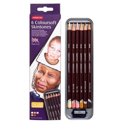 Coloursoft Skintone - 6 odstínů vybraných firmou Derwent k malování portrétů a aktů.