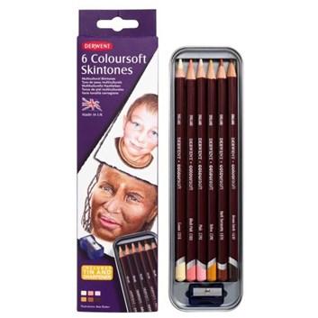 Derwent, Coloursoft Skintone, 2300217, pastely 6 kusů