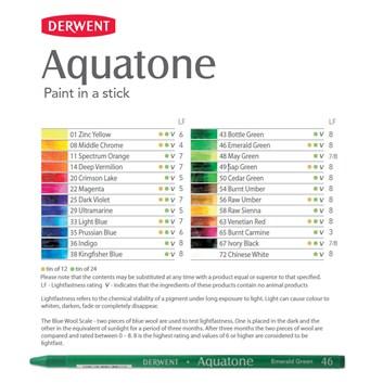 Derwent, 0700101, Aquatone, akvarelová tyčinka, 1 ks, Zinc Yellow 01