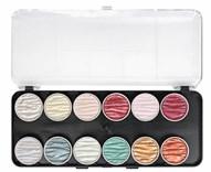 Coliro, M1200, metalické, perleťové akvarelové barvy, 12 odstínů