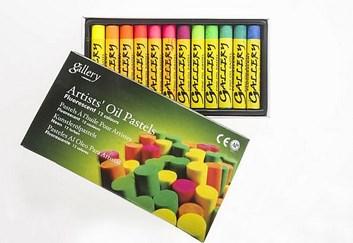 Mungyo, MOP12F, sada olejových pastelů, fluorescentní barvy, 12 ks