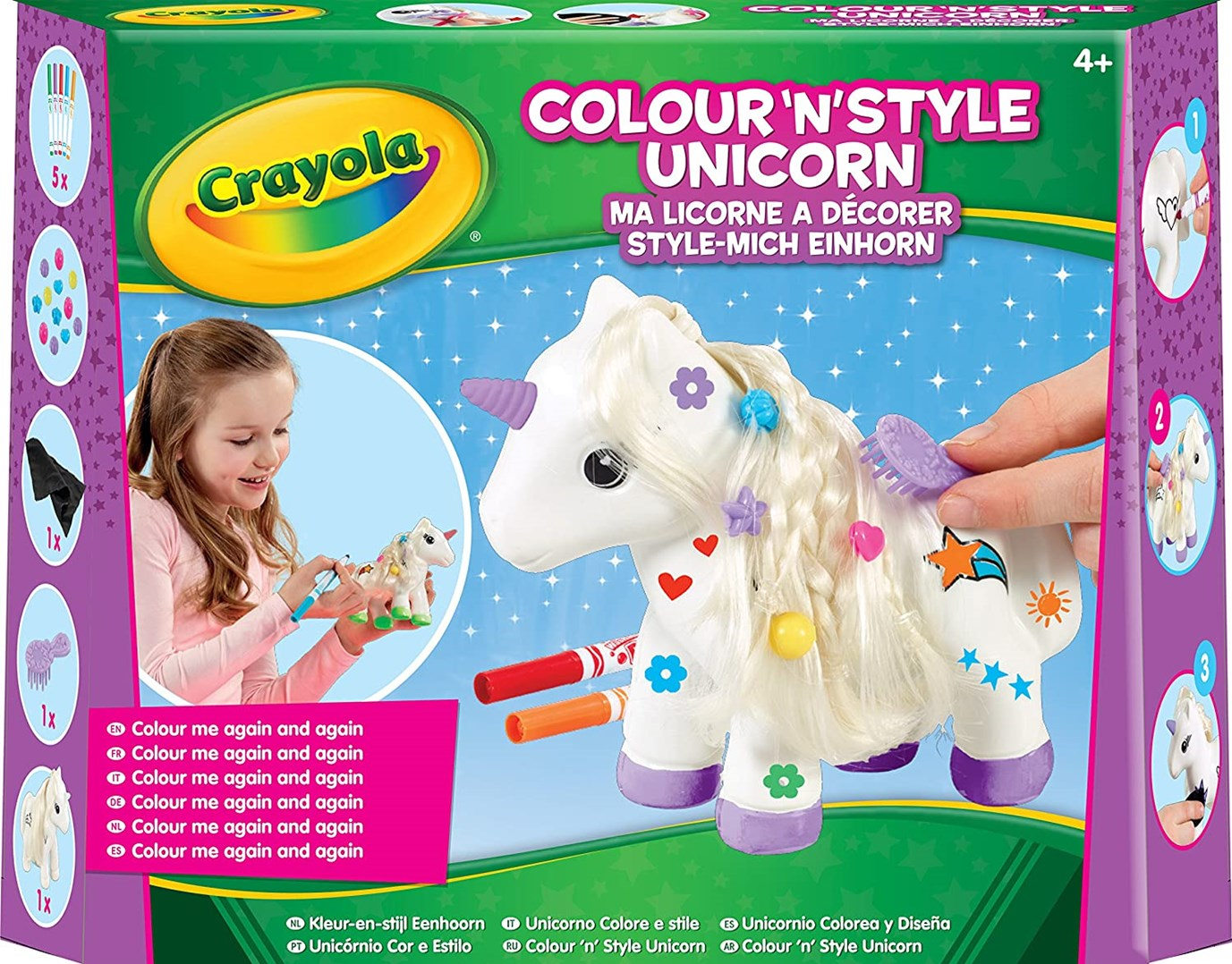 Crayola, 93020, Unicorn craft kit, sada jednorožec s fixami, 8 ks