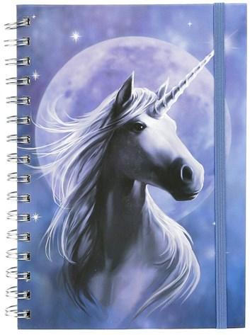 Zápisník A5, SR72635, Anne Stokes, motiv Unicorn, kroužková vazba, 1 ks