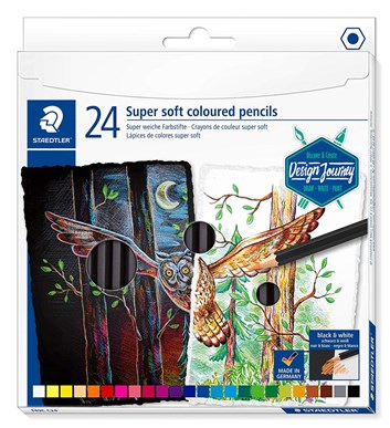 Staedtler, 149C C24, Design Journey, super soft pastelky, sada pastelek 24 ks