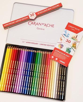 Caran d'Ache, 3888830, Supracolor, umělecké akvarelové pastelky, limitovaná edice,  30 ks