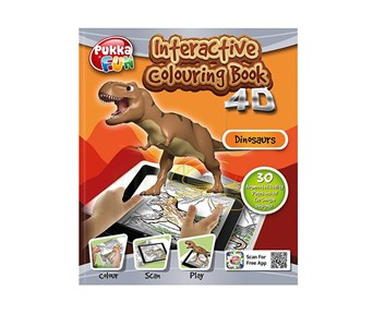 Pukka pad, 8421-FUN, Pukka fun, interaktivní 4D omalovánky, Dinosauři