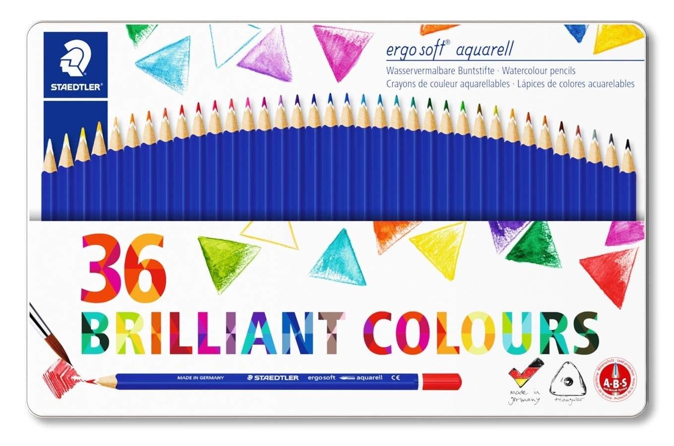 Staedtler, 156 M36, Ergo Soft, akvarelové pastelky, 36 ks