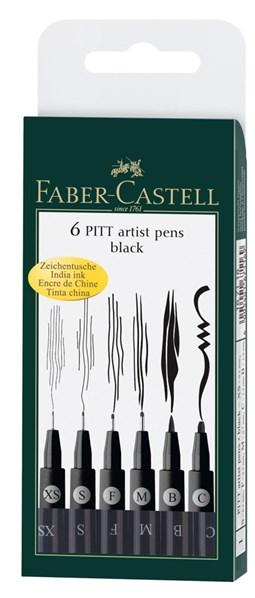Faber-Castell, 167116, Pitt Artist Pen, umělecký popisovač, 6 kusů