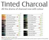 Tinted Charcoal, sada tónovaných uhlů, 24 kusů, Derwent