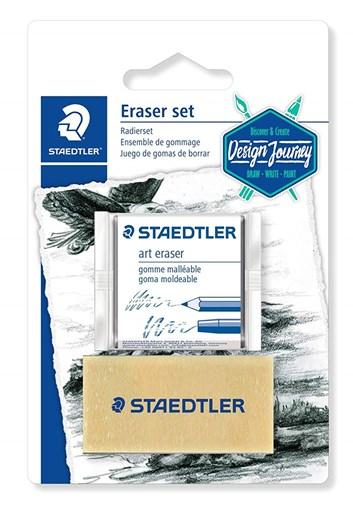 Staedtler, 5427SBK2-C, sada pryží pro grafitové tužky a uhly, 2 ks