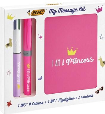 Bic, 972089, My message kit, sada zápisníku a psacích potřeb, I am a Princess