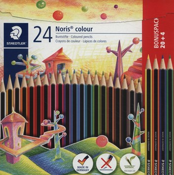 Staedlter, 185 C24P, Noris colour, sada pastelek,  24 ks