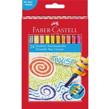 Faber-Castell, 120004, Twist, olejové pastely (voskovky), šroubovací, 24 ks