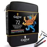 Castle art supplies, CAS-72CPZ, Premium colored pencils, sada pastelek v pouzdře, 72 ks