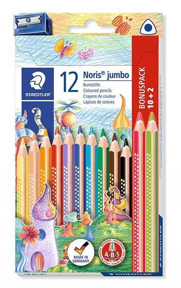 Staedlter, 128 NC12P1, Noris Jumbo, pastelky s ořezávátkem,  12 ks