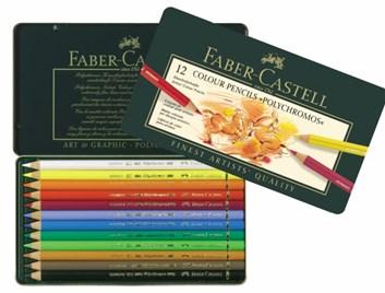 Faber-Castell, 110012, Polychromos, umělecké pastelky nejvyšší kvality, 12 ks