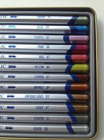 Derwent, 0700456, Mettalic, metalické pastelky, kusové, 91 zelená