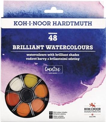 Koh-i-noor, 017450700004, sada brilantních, vodových barev, 48 odstínů