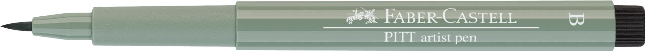 Faber-Castell, 167572, Pitt artist pen, popisovač se štětečkovým hrotem (brush), 1 ks - Warm grey III 272