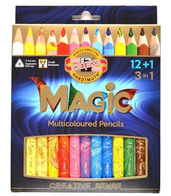 Koh-i-noor, 3408013001KS, Magic, souprava pastelek, 12 + 1 ks