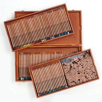Derwent, 2305693, Lightfast, sada uměleckých pastelek v luxusní dřevěné kazetě, 100 ks