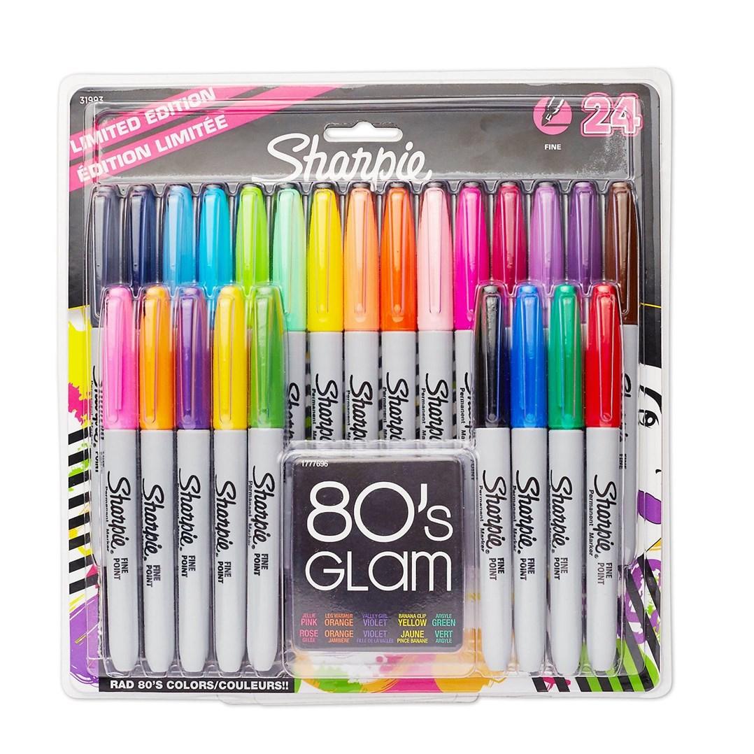 Sharpie, B007QU7VIQ, permanentní, umělecké fixy z USA, 80 ´s GLAM, 24 ks