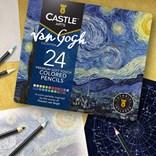 Castle art supplies, CAS-24CP-THEMED, sada uměleckých pastelek, Van Gohg, 24 ks
