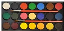Sada akvarelových vodových barev, 21 odstínů, Faber-Castell