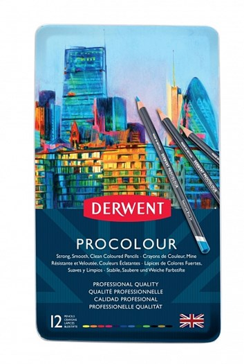 Derwent, 2302505, Procolour, umělecké pastelky, 12 ks