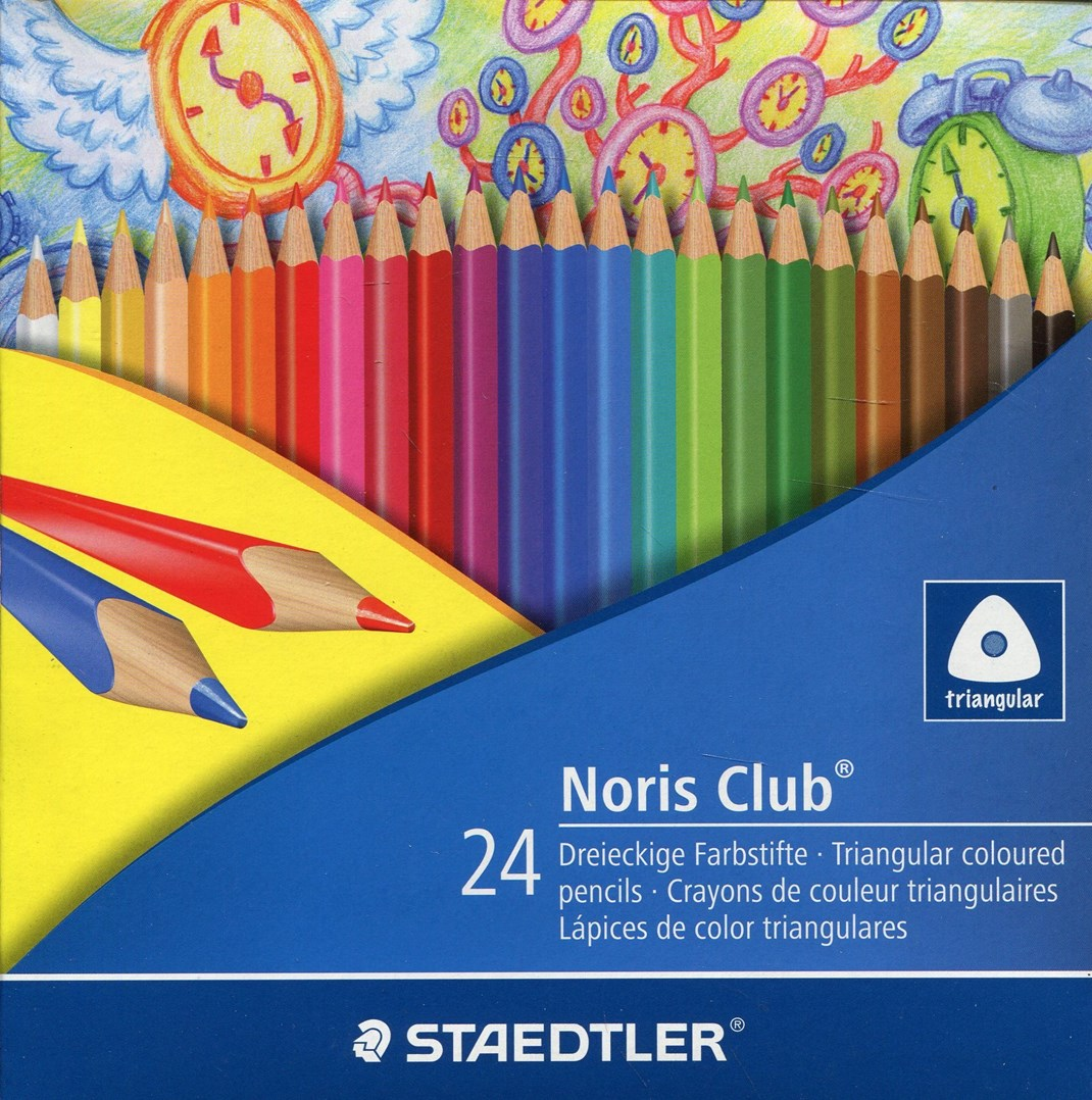 Staedtler, 1270C24ID, Noris Club, sada trojhranných pastelek, 24 ks