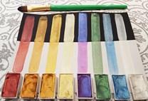 MozArt, 0646437675291, Watercolor Paint Set, umělecké akvarelové barvy, 40 barev v pánvičkách