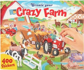 Create your, sešit se samolepkami, Crazy farm