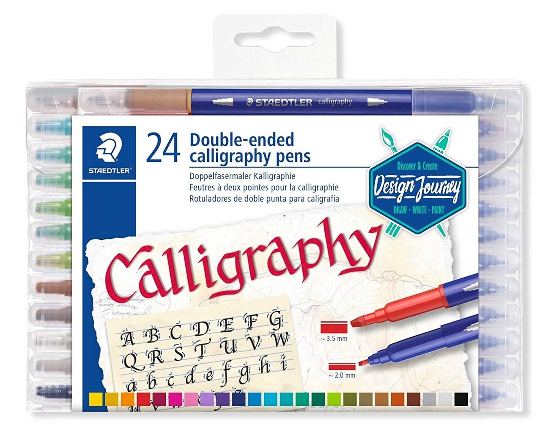 Staedtler, 3005 TB24, Calligraph Duo, kaligrafické popisovače, oboustranné, 24 ks