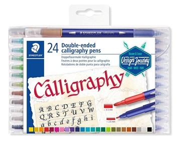 Staedtler, 3005 TB24, Calligraphy Duo, kaligrafické popisovače, oboustranné, 24 ks