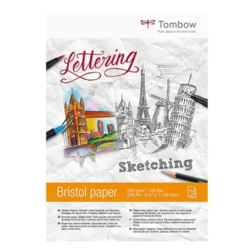 Tombow,  PB-MARK, kreslící blok Bristol (skicovací), A4, 250 g, 25 listů