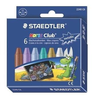 Staedtler, Noris Club, 2240 C6, olejové pastely metalické, maxi, 6 ks