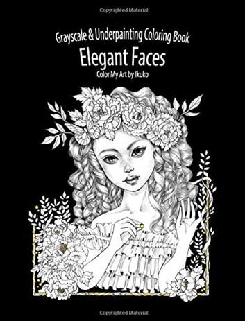 Color My Art: Elegant Faces, Ikuko